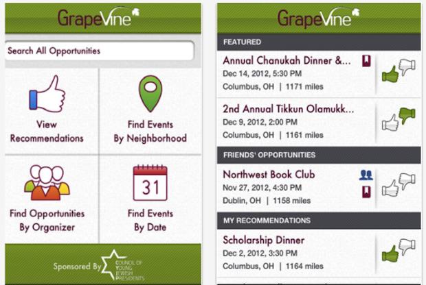Aplicativo GrapeVine  procura judeus para você