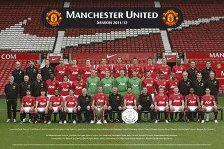 Team Photo 2011-2012, Manchester United F.C. - PopArtUK