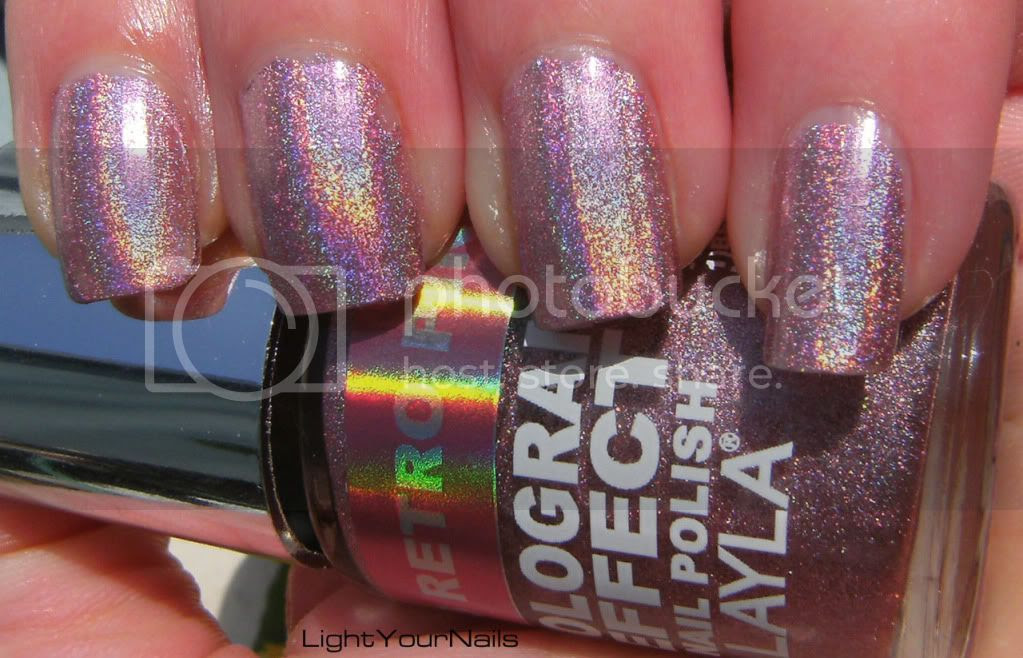 Layla hologram effect Retro Pink