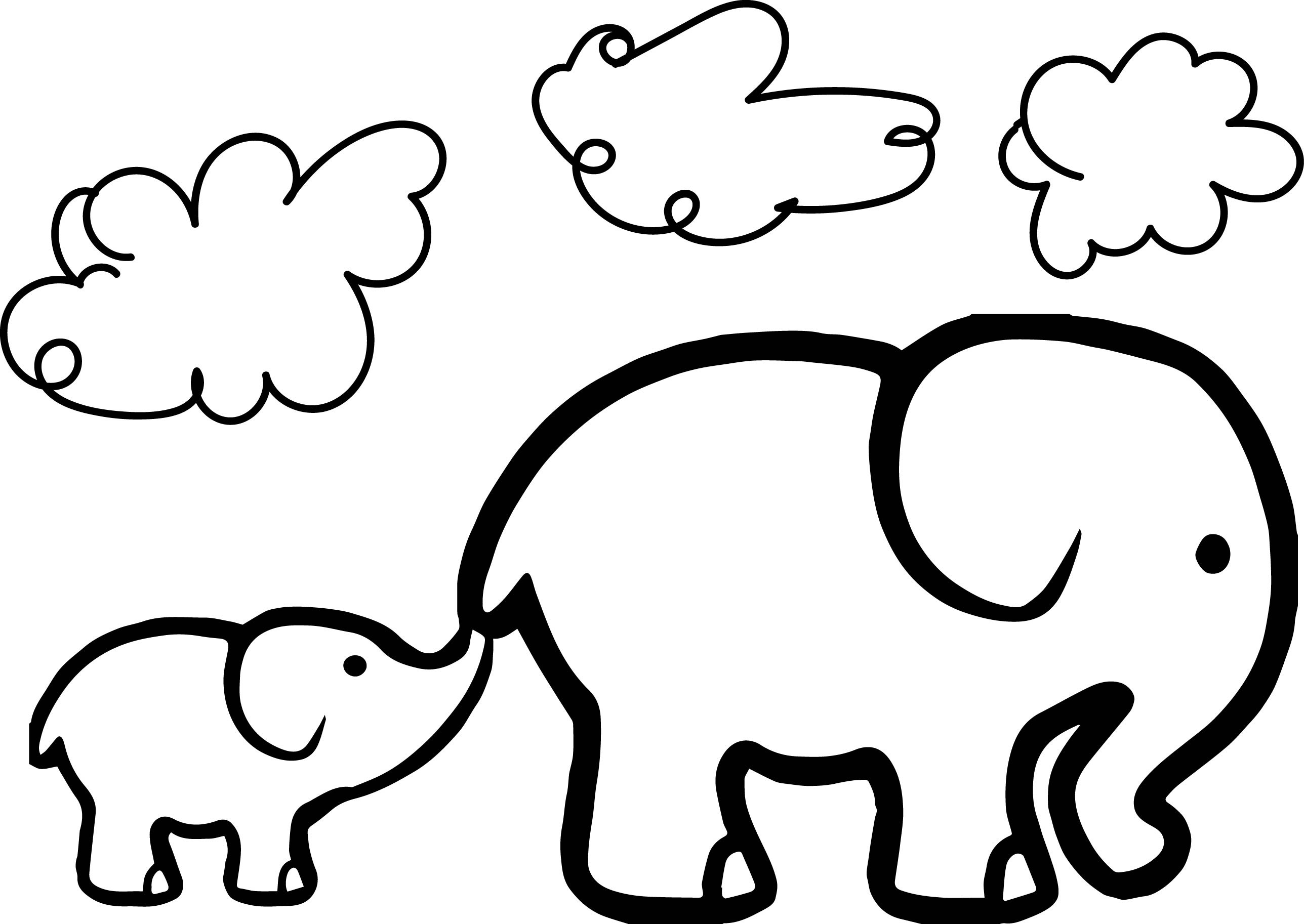 Elephant Coloring Pages | Free download on ClipArtMag