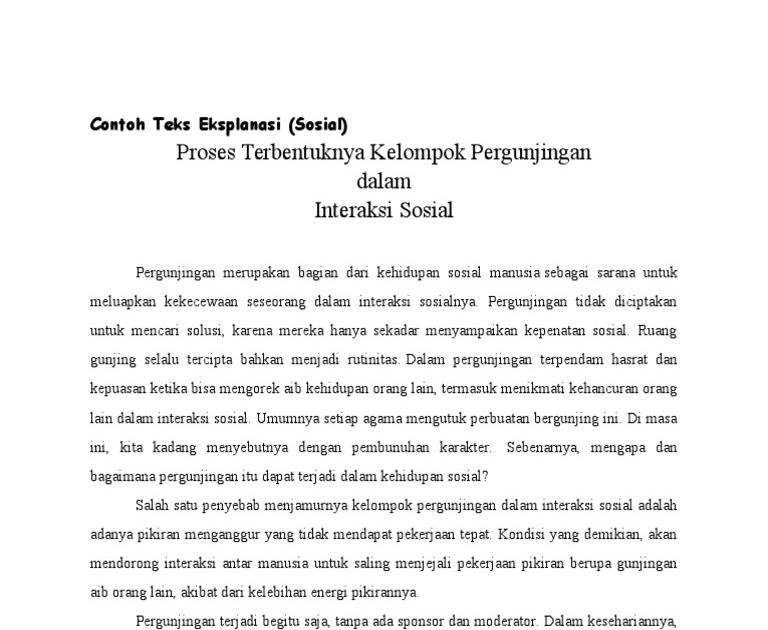 Contoh Teks Eksposisi Cerita - Contoh II
