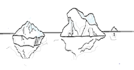 Come disegnare un pupazzo di neve acolore for Lago disegno