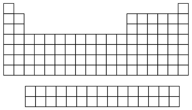 37 Periodic Table Blank