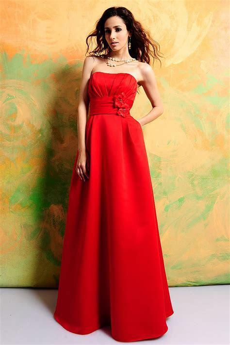 Bridesmaid Dress Red   Dresscab