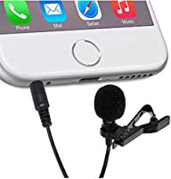 Professional Grade Wizzit© Lapel Microphone ¬ Omnidirectional Mic with Easy Clip On System ¬ Perfect for Smart Phones. Android / Iphone / Ipad. Recording Youtube / Interview / Video Conference / Podcast / Voice Dictation