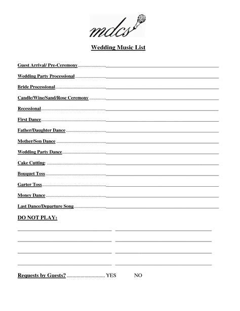 Wedding Party List Template Free   FosterHaley Wedding