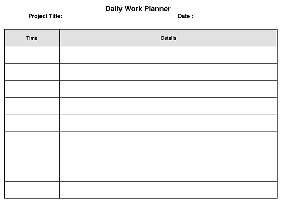 daily planner for work calendar june