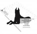 Great Dane Dog Silhouette Yard Art Woodworking Plans 3 sizes included - fee plans from WoodworkersWorkshop® Online Store - great danes,silhouettes,dogs,pets,animals,yard art,painting wood crafts,scrollsawing patterns,drawings,plywood,plywoodworking plans,woodworkers projects,workshop blueprints