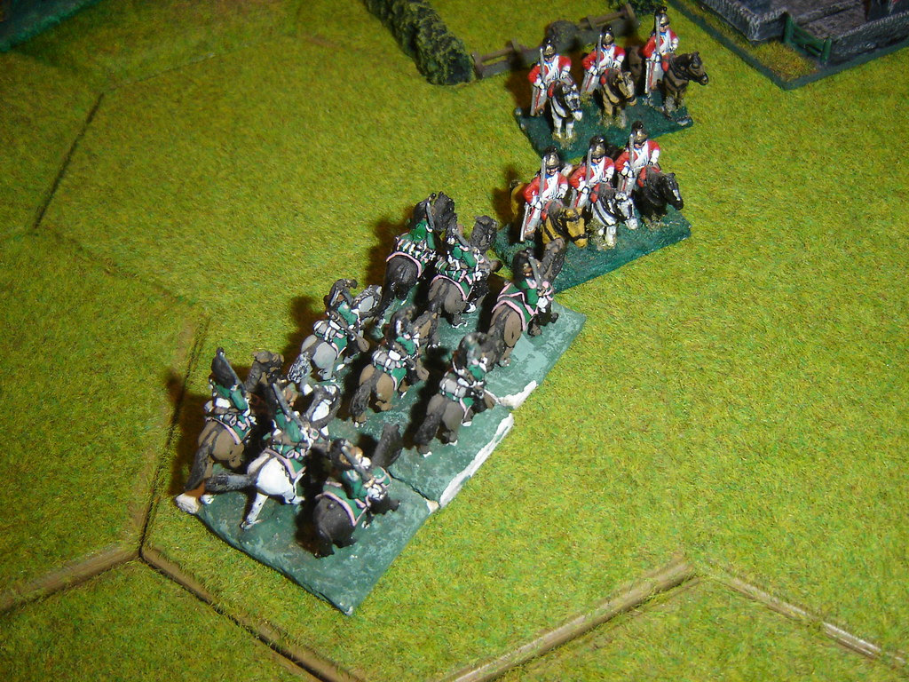 French countercharge  English cavalry
