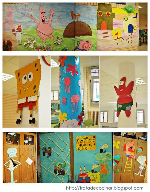 Collage Bob Esponja Tardes en el cole