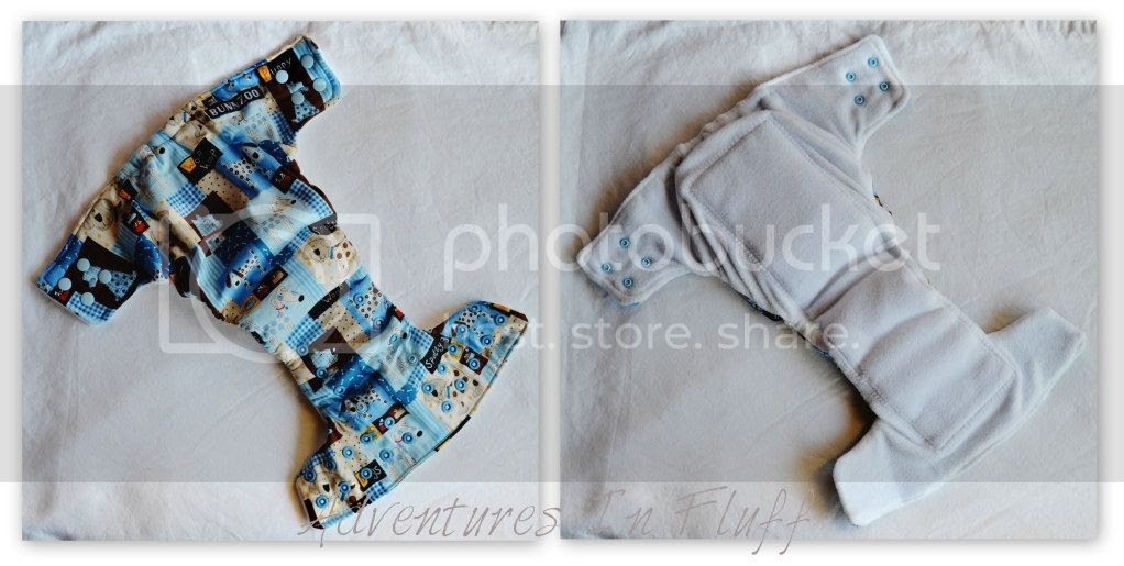 BUNNZOO Diapers One-Size Fitted Cloth Diaper - Inside & Outside