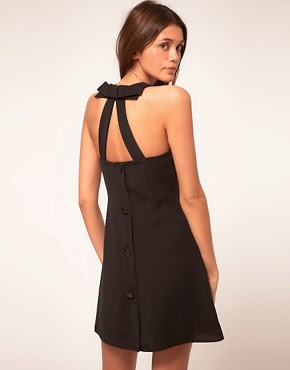 Image 1 ofASOS Swing Dress with Bow Back