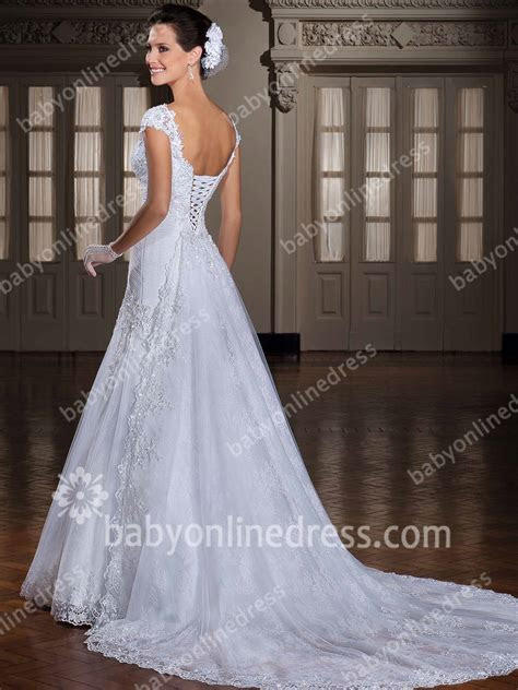 Glorious Wedding Dresses Straps Cap Sleeve mermaid Sweep