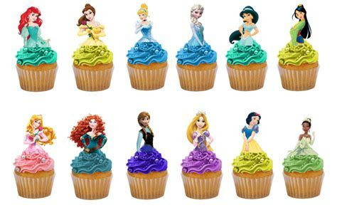 Disney Princesses 24 half body birthday edible stand up