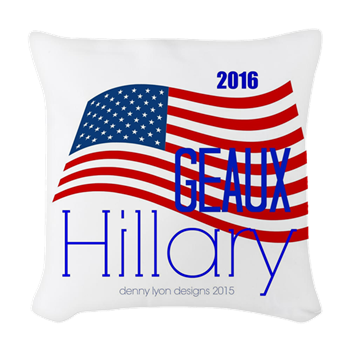 Geaux Hillary 2016 Woven Throw Pillow
