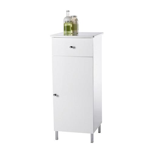 Showerdrape Capri White Wood Bathroom Floor Cabinet | eBay