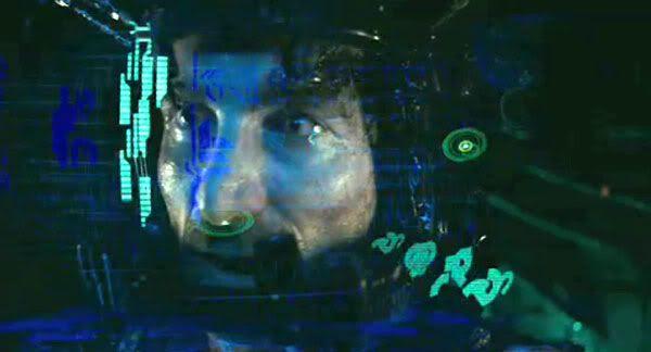 Wikus Van De Merwe inside an alien exosuit.