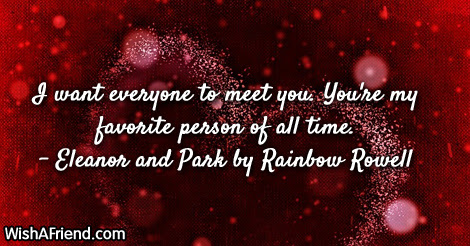 I Want Everyone To Meet You Famous Love Quote