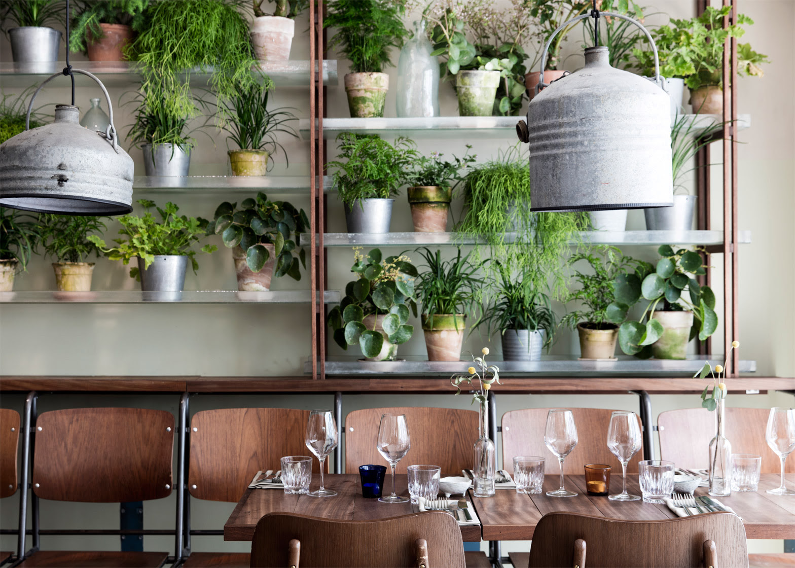 danish design studio creates an indoor garden for a restaurant 4