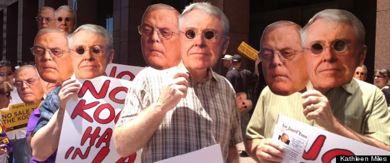 Protest Koch Brothers La Times