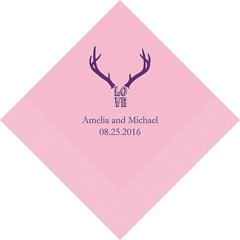 Love Antlers Printed Napkins   Confetti.co.uk