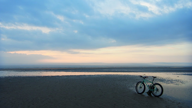 Evening beachride.