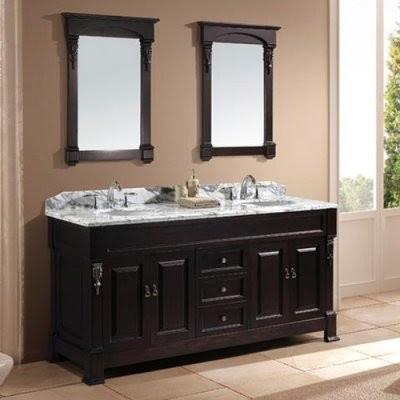 Virtu USA Huntshire 72-in. Double Sink Bathroom Vanity - Dark ...