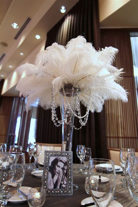 25  best ideas about Feather Centerpieces on Pinterest