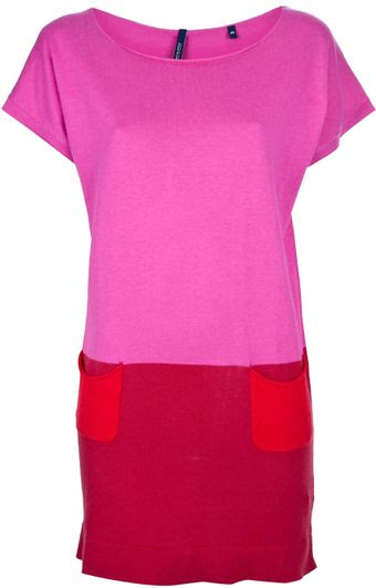 Cor Woolrich Sweater Dress Bloco - Lyst