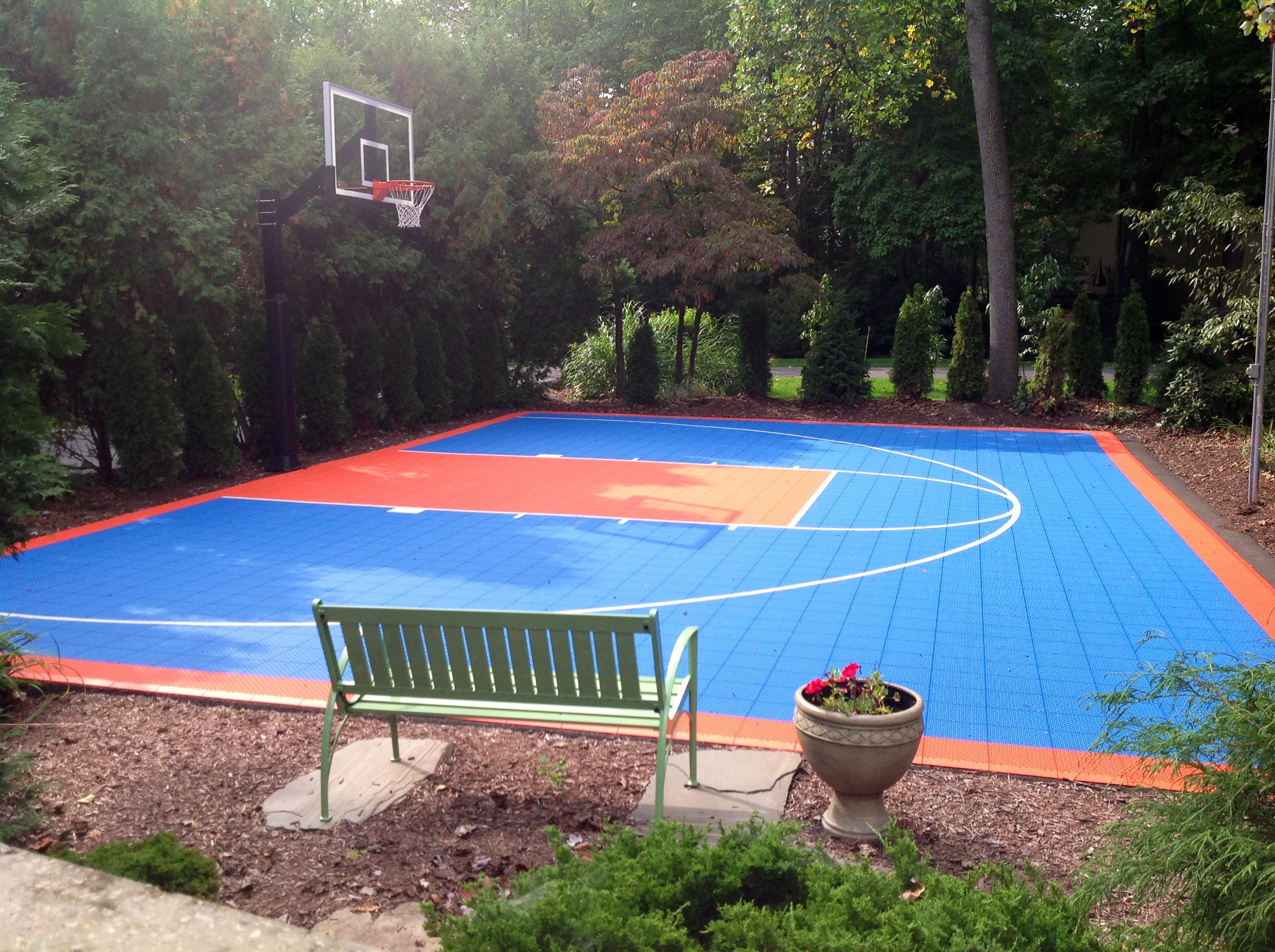 The Playing Area On The Half Court Is 46 Feet Wide And 30 Feet Deep