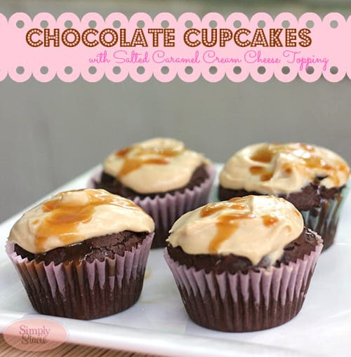 Chocolate Cupcakes with Salted Caramel Cream Cheese Topping Recipe