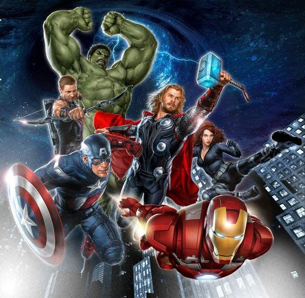 THE AVENGERS promotional poster.