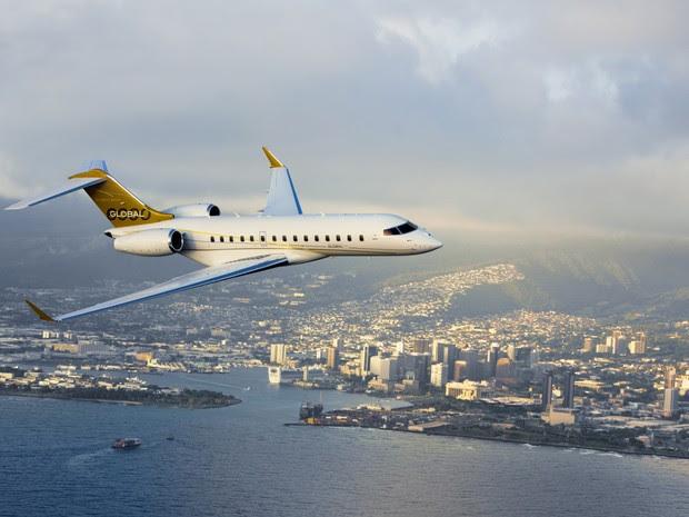 Avião Global Express durante um voo (Foto: Divulgação/Líder Aviação)