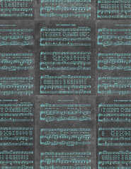 LETTER/STANDARD size JPG Vintage GF Christmas Sheet Music chalkboard & turquoise paper 350dpi