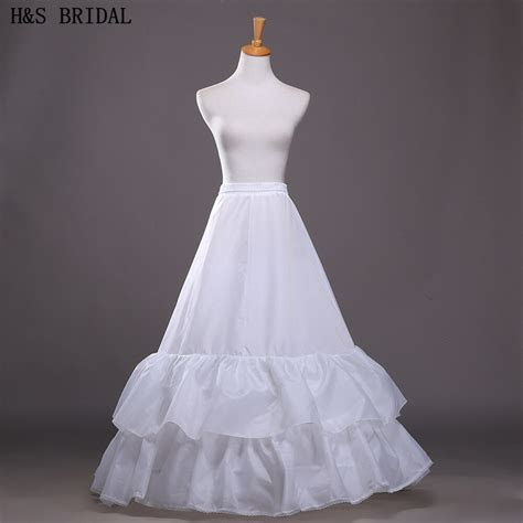 Hot Sale Cheap A line 2 Hoops 3 Layers Wedding Petticoat