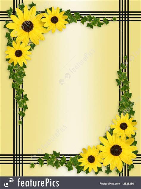 Yellow Flowers Border Illustration