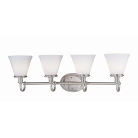 Shop Lite Source 4-Light Bastien Frost Glass Shade Bathroom Vanity ...