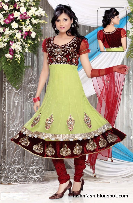 Anarkali Fancy Frocks-Indian-Pakistani Anarkali Umbrella Frocks New Latest Collection Dress Designs-6