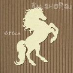 Чипборд Лошадь на дыбах