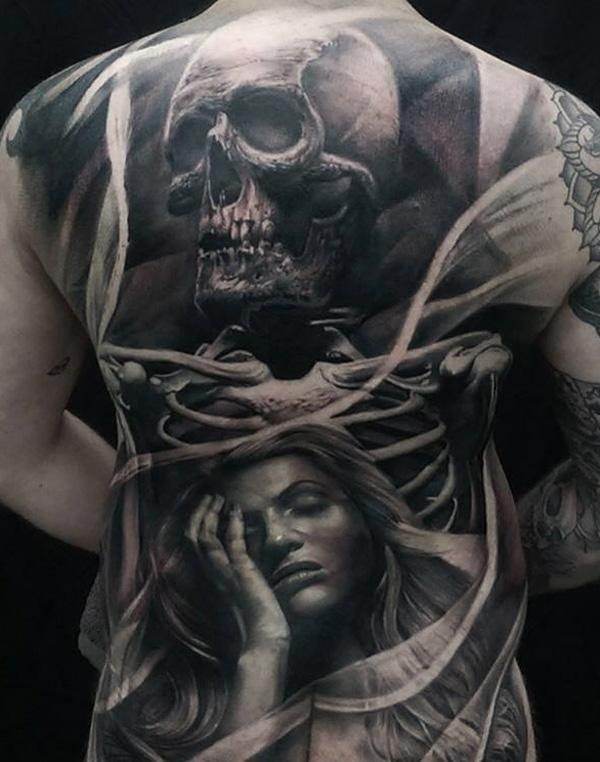 100 Awesome Back Tattoo Ideas Art And Design
