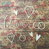 """Набор чипборда от Mona Design """"Love"""", 8 шт. - ScrapUA.com"""