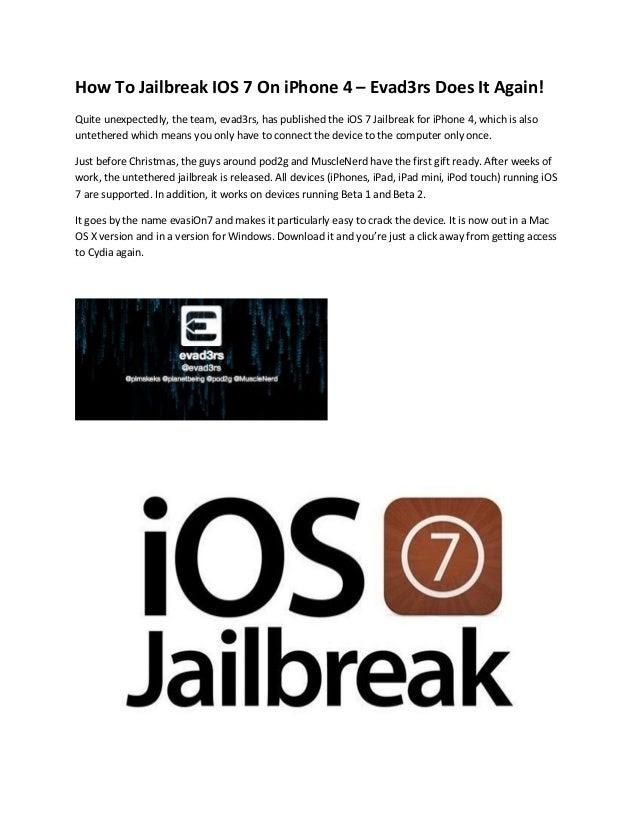 How To Jailbreak IOS 7 On iPhone 4