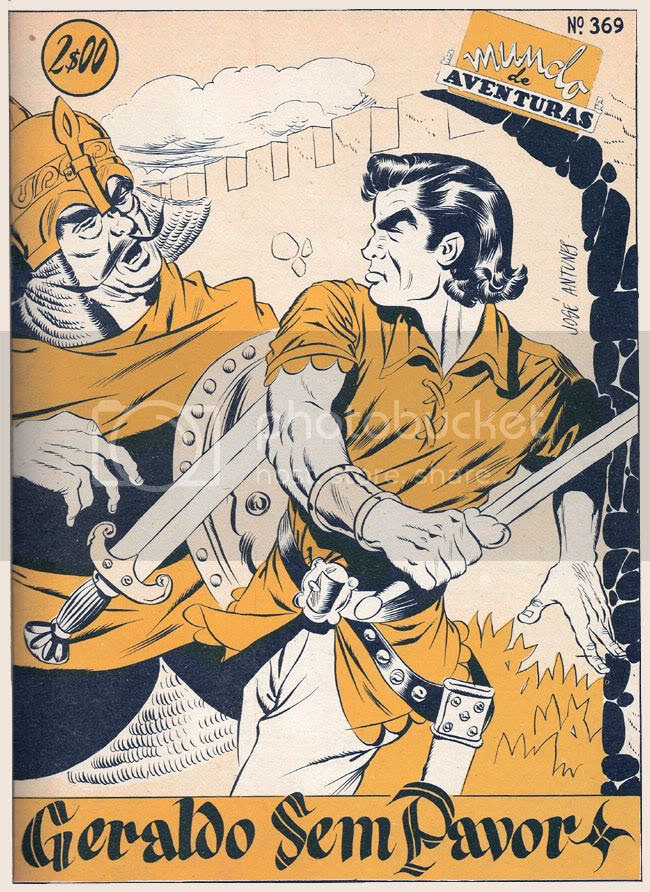 Capa de O Mundo de Aventuras número 369, de 6 de Setembro de 1956, desenhada por José Antunes, dedicada à série