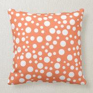 Pastel Polka Dot Madness Mojo pillow throwpillow