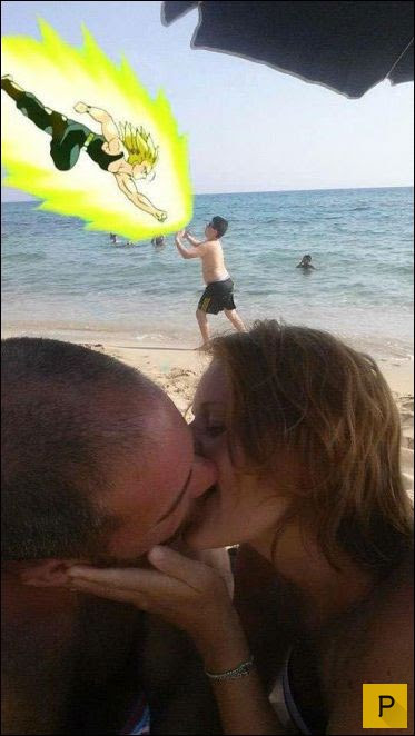 Девушка попросила обработать романтический снимок (18 фото)