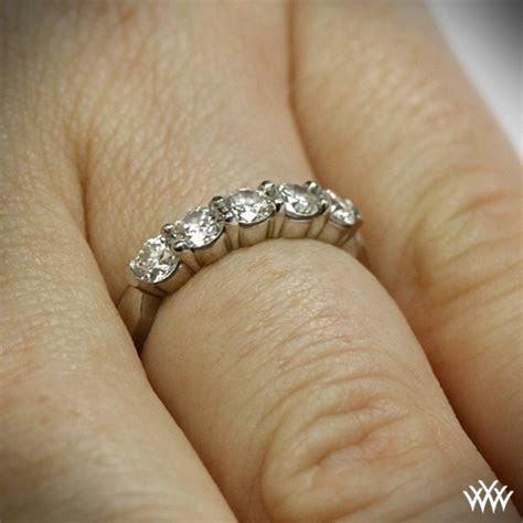 "'Five Stone Shared Prong"" Diamond Wedding Band   815"