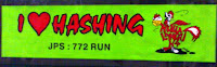 Car sticker - 'I LUV Hashing' freebie by the hare