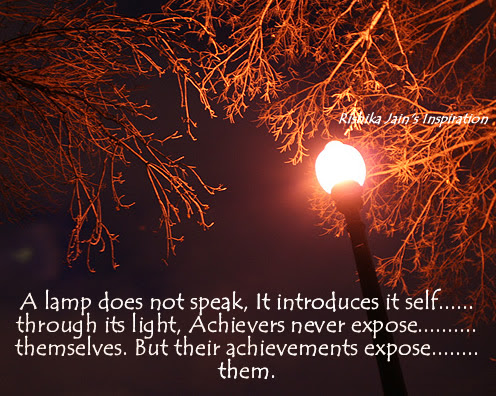 An Inspiring Achievement Quote A Lamp Does Not Speak For Itself