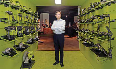 don gao president of positec stands in a showroom for the ...