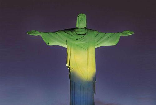 cristo verde amarelo